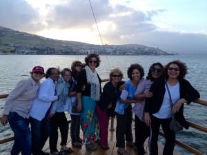 Grupo Pe Silas - Travessia em barco do Mar da Galiléia - Israel