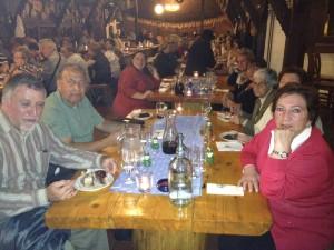 Jantar festivo em Budapeste. Grp Pe Geraldo Policarpo