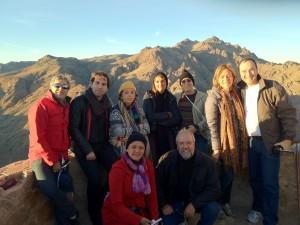 No topo do Monte Sinai - Egito- Grp Pe Gleuson