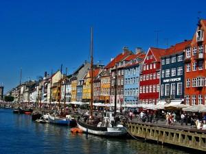 Casas no Porto de Nyhavn, Copenhage