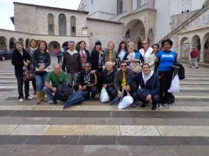 O grupo em Assis - Itália