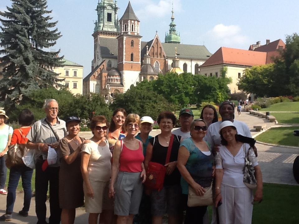 Em visita ao Santuário de Madre Faustina, na Cracóvia.