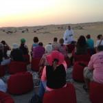 Missa com o grupo no deserto de Dubai