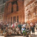 Grupo em Petra, na Jordânia
