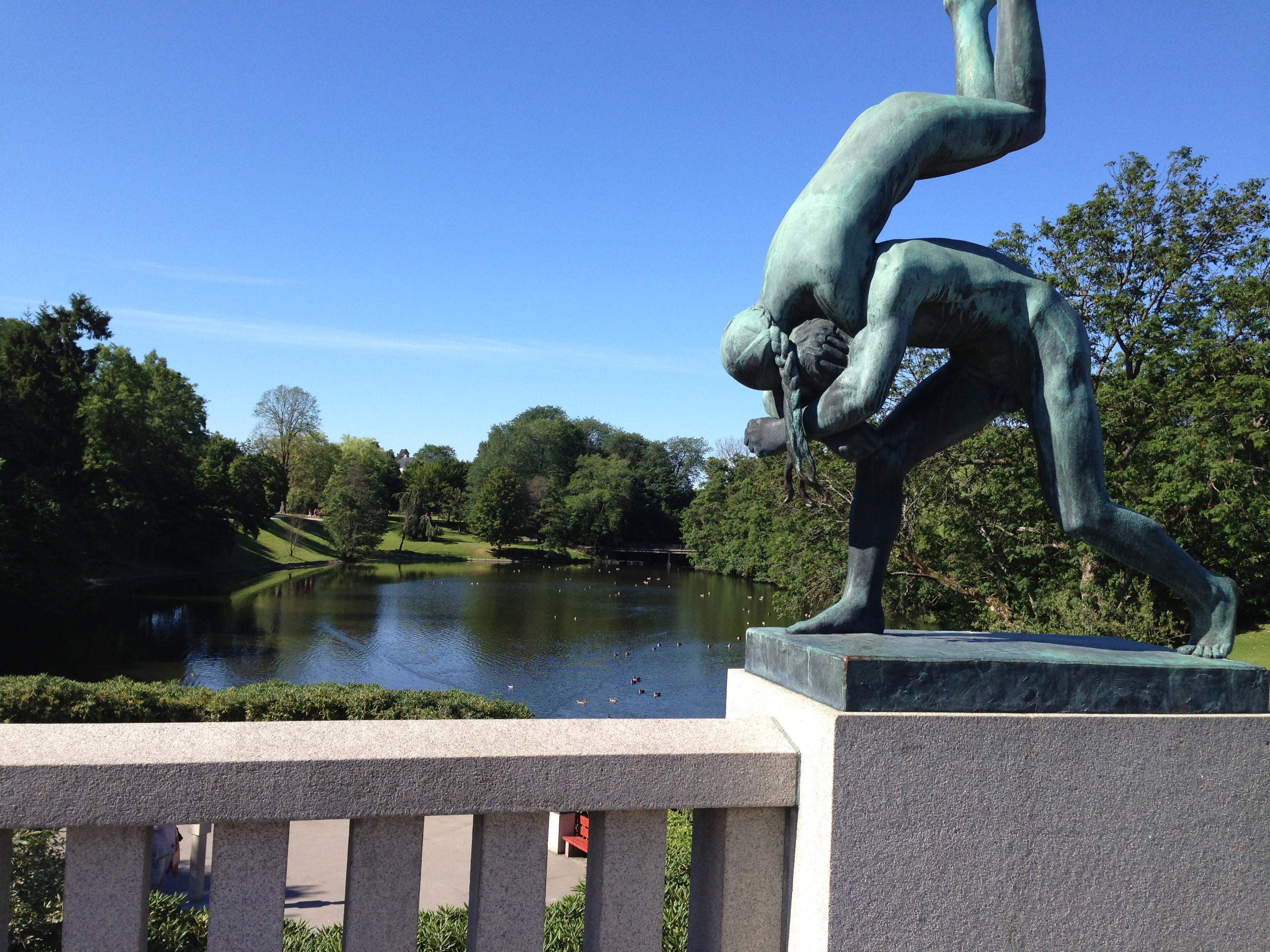 Estátuas no Parque Vinegrand - Oslo