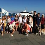 Embarque do grupo em Capri