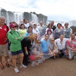 O grupo nas cataratas do Iguaçu