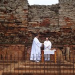 Missa celebrada pelo pe. Alan nas missões jesuítas