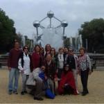 Grupo em visita a Bruxelas, na Bélgica
